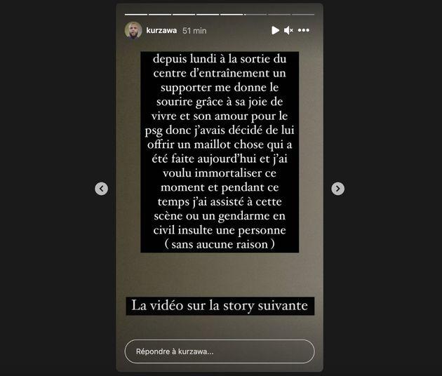 Dans sa story Instagram, le footballeur du Paris Saint-Germain Layvin Kurzawa raconte avoir assisté...