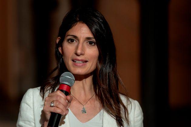 ROME, ITALY - JUNE 24: Rome's mayor Virginia Raggi attends