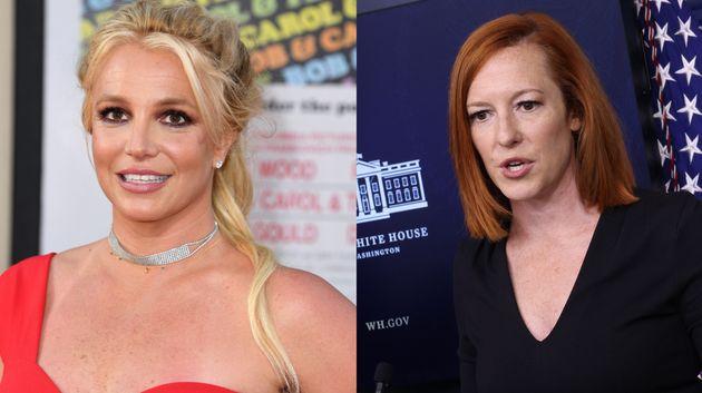 Britney Spears andWhite House press secretary Jen