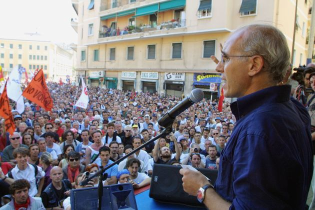 Il portavoce del Genoa Social Forum Vittorio