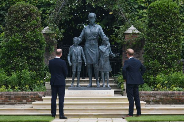 The statue will rest permanently at the Sunken Gardens of Kensington Palace, which was one of the Princess of Wales' favorite