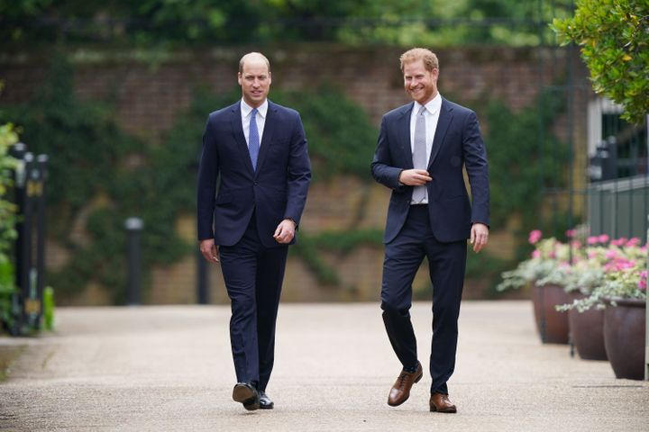 William and Harry at Thursday's event