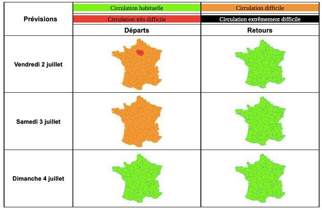 Bison Futé voit rouge à Paris et orange en France dès