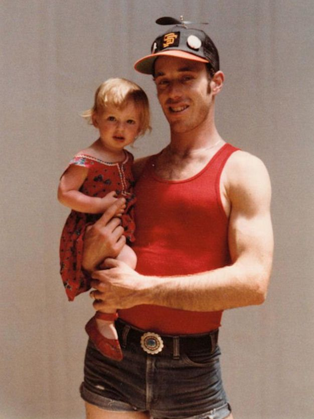 The author and her father, 1978.