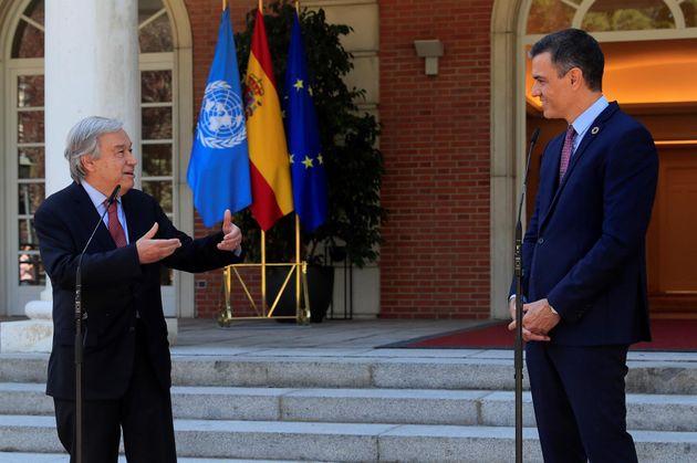Guterres y Sánchez, este