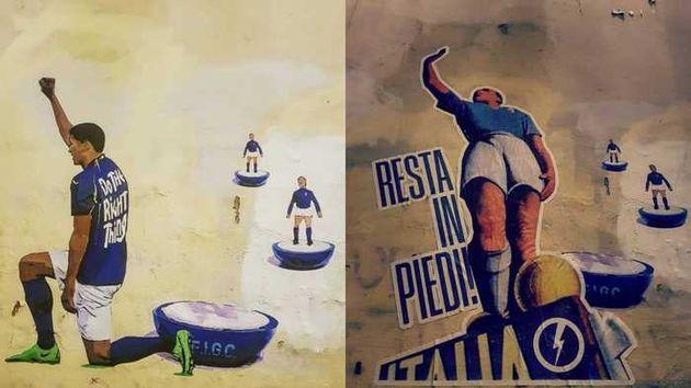 Il murale, prima e