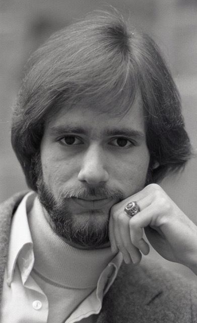 A photo of the author wearing his Princeton ring taken during his time at the university.