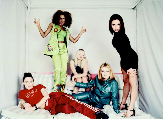 The Spice Girls pose for a group portrait during a studio session in New York City, February 1,