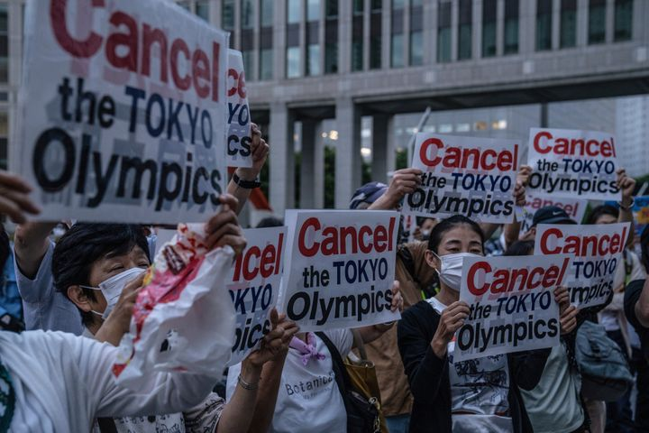 A May poll found that 80% of Japanese oppose hosting the Tokyo Olympics;  the number has declined, but half of Japan sti