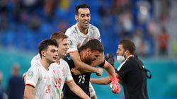 España huye del gafe con un heroico Unai Simón y se mete en semifinales de la Eurocopa al ganar a Suiza en los
