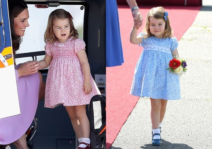 The dresses Princess Charlotte wears for public appearances often sell out quickly.