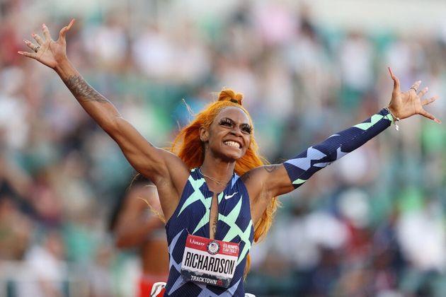 Sha'Carri Richardson, remporte la finale du 100m américaine, le 19 juin