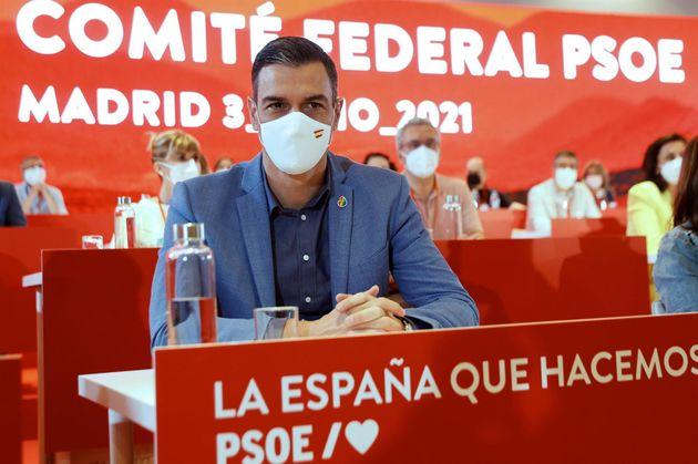 Pedro Sánchez, en el Comité Federal del