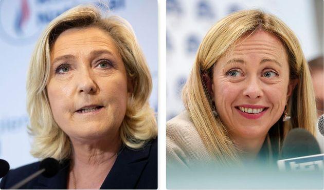 Marine Le Pen e Giorgia