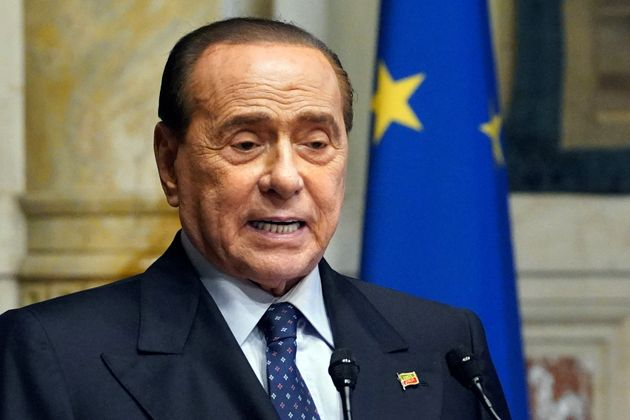The eurodeputy of of forza Italia Silvio Berlusconi at the Chamber of Deputies during the consultation...