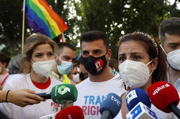 Jana Halloul y Adriana Lastra (PSOE), en la