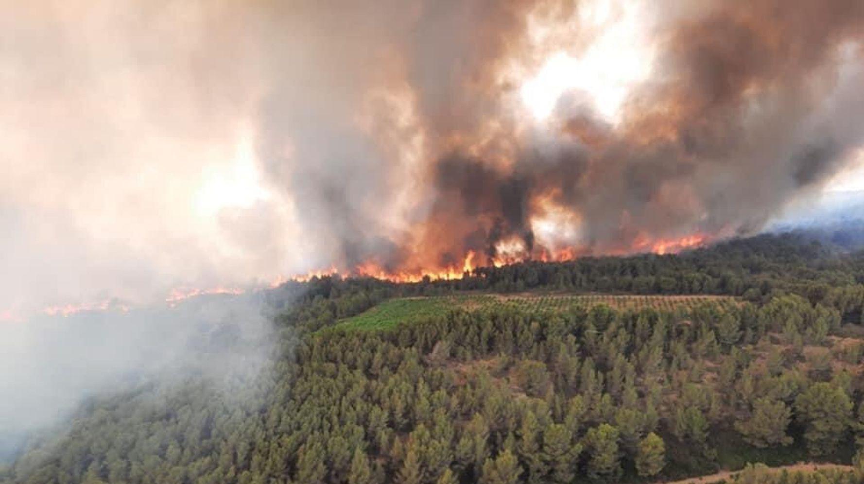 À Narbonne dans l'Aude, l'incendie est désormais