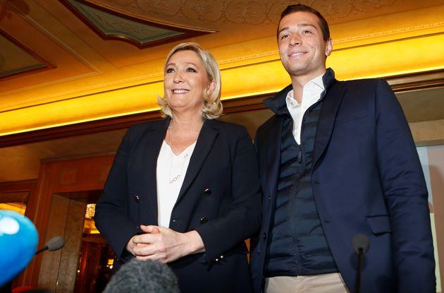 Jordan Bardella et Marine Le Pen, le 18 mai 2019 à