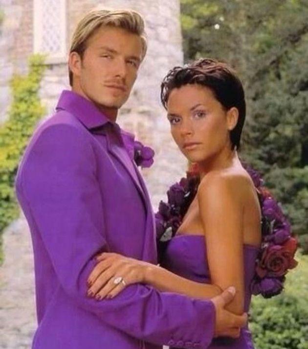 David et Victoria Beckham lors de leur mariage en