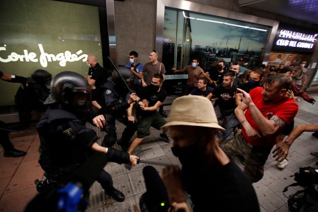 The police charge against the demonstration held this Monday in Madrid to condemn the ...