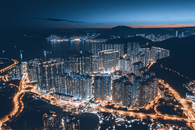 Residential District in Hong Kong at