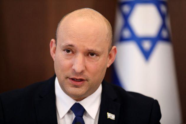 Israeli Prime Minister Naftali Bennett attends a cabinet meeting in Jerusalem, on July 4, 2021. (Photo...