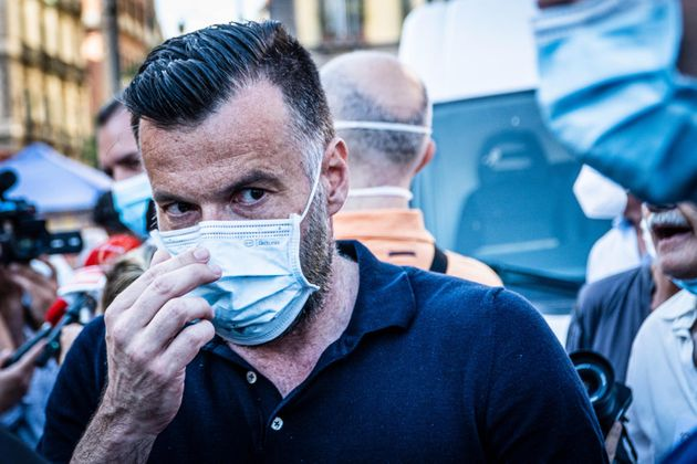 Alessandro Zan al Pride 2021 di Napoli. Napoli 3 Luglio 2021 ANSA/CESARE