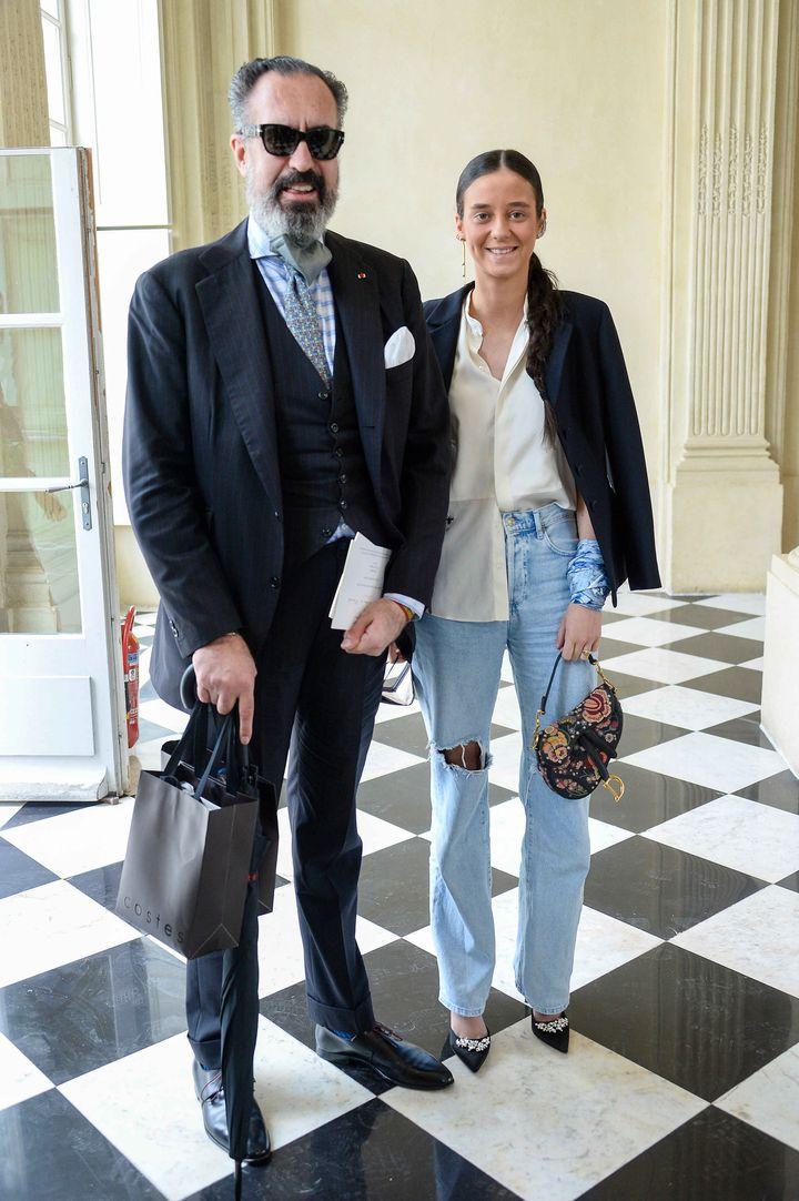 Jaime de Marichalar y Victoria Federica en el desfile de Dior en París