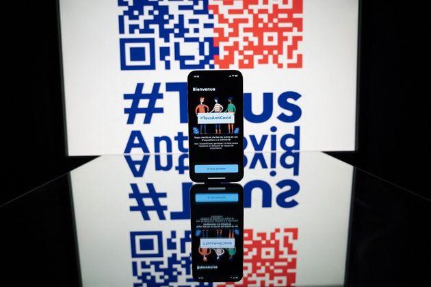 Une photo d'illustration de l'application TousAntiCovid, le 23 octobre