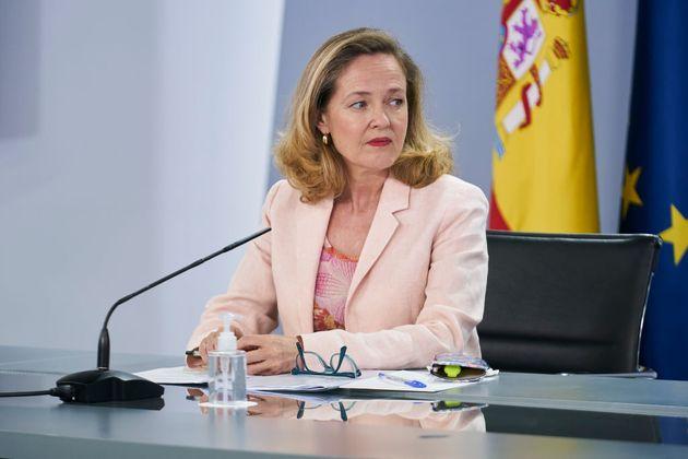 La vicepresidenta segunda del Gobierno, Nadia Calviño, este martes, en
