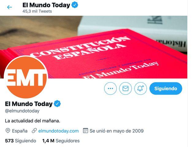 CABECERA DE TWITTER DE EL MUNDO