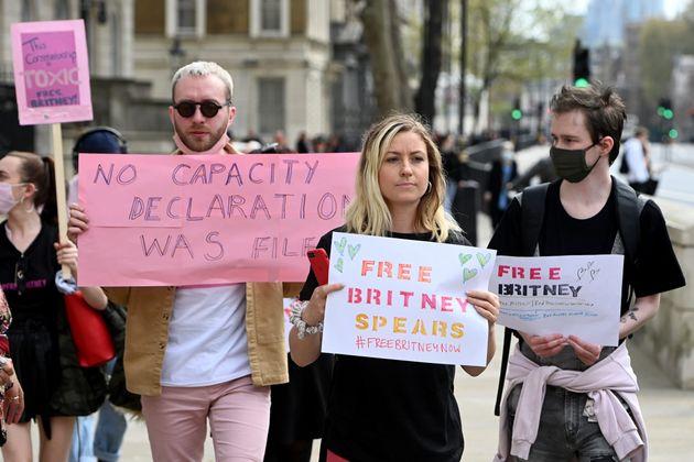 イギリスなどにも「#FreeBritney」が広がっている(2021年4月撮影)