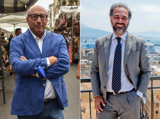 Una combo con le foto di Luca Bernardo(S) e Catello Maresca, candidati sindaco per il centrodestra rispettivamente...