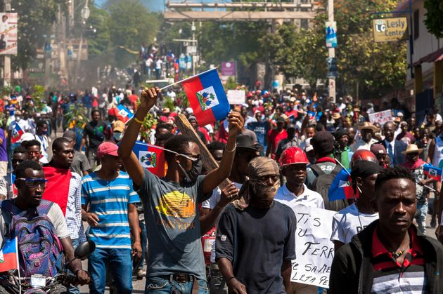 Una imagen de la protesta en Puerto Príncipe, el pasado marzo, contra el referéndum constitucional de
