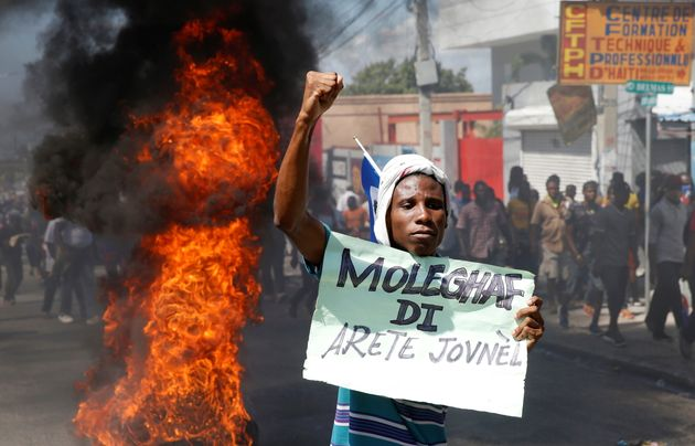 Protesta contra el presidente Jovenel Moise, el pasado 14 de febrero, en Puerto