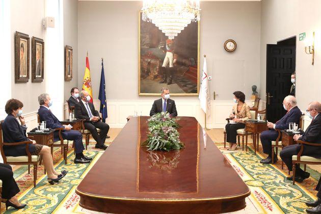 El rey Felipe VI en una visita al Tribunal de Cuentas, el pasado 23 de septiembre de
