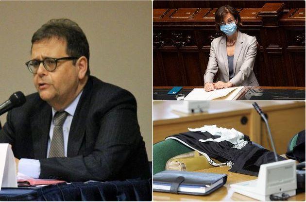 A sinistra l'avvocato Cataldo Intreri - a destra, in alto, la ministra Marta