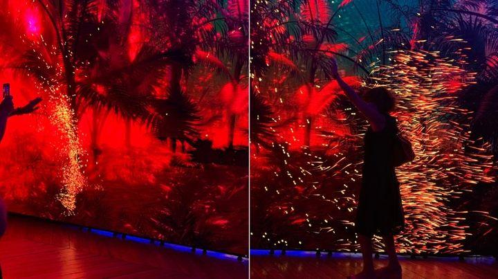 Recreación de selvas con sensores de movimiento para que el visitante manipule la escena.