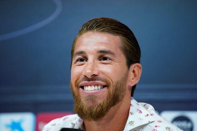 Ramos, sonriente en su despedida del Real