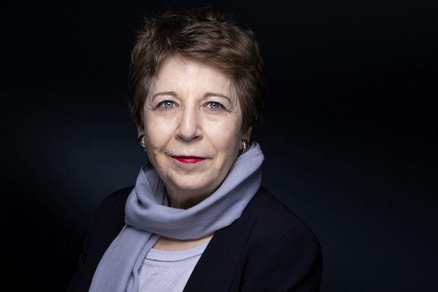 Corinne Lepage, lors d'une séance photo, à Paris, le 9 mars