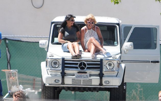Lynne Spears and her daughter Britney Spears in Los Angeles in