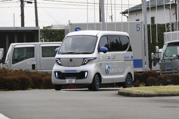 佐川急便に導入される予定のEV車両。配送の「ラストワンマイル」を想定する