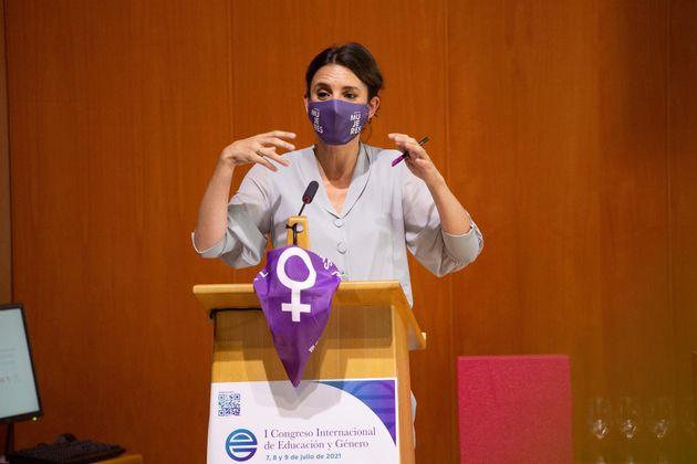 La ministra de Igualdad, Irene Montero, este miércoles, en