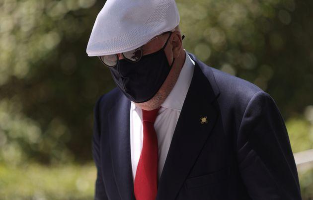 El excomisario Jose Manuel Villarejo, a su salida de la Audiencia