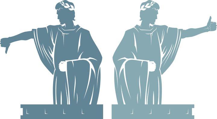 Los gestos con los que los emperadores romanos decidían si un gladiador seguía con vida o moría.