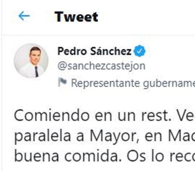 El tuit antiguo de Pedro