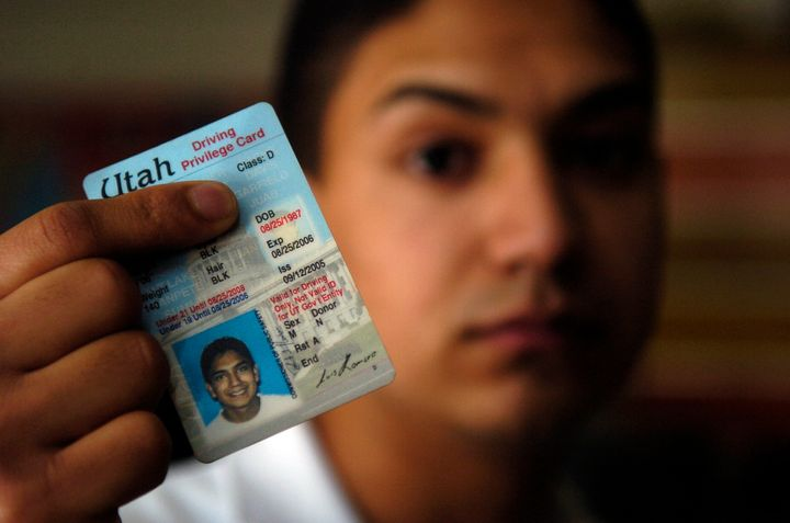 Utah's driving privilege card, shown in this 2006 photo, allows undocumented immigrants to drive, get insurance and access fi