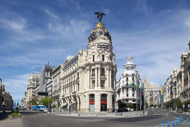 Cruce de la calle Alcalá con la Gran Vía de