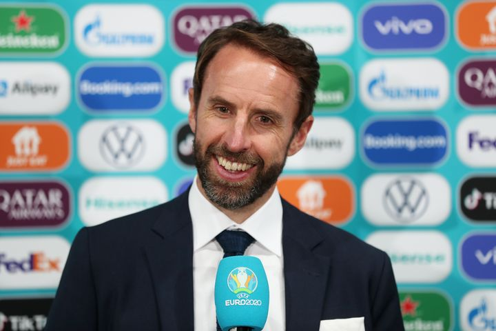 Gareth Southgate takes the mike after another Euro 2020 win for England.