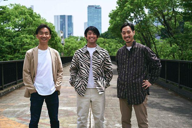 ゼブラアンドカンパニーの田淵良敬さん(左)、阿座上陽平さん(中央)、陶山祐司さん